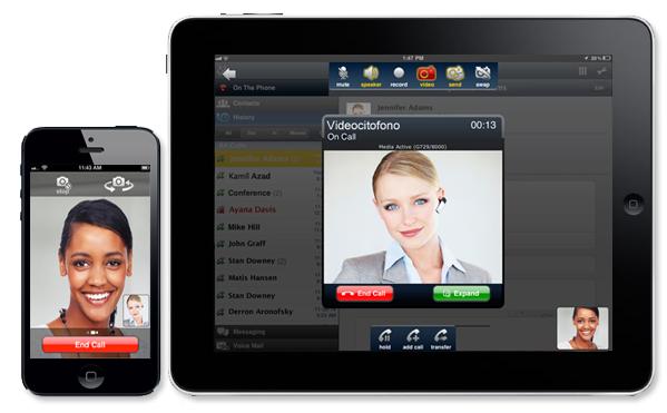 Esempio di comunicazione VOIP tra dispositivi mobili